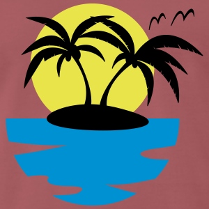 Island, Sun and Sea - Men's Premium T-Shirt