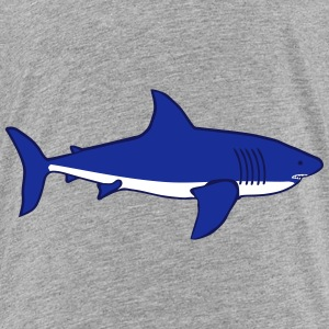 weißer Hai white Shark blau T-Shirts - Teenager Premium T-Shirt
