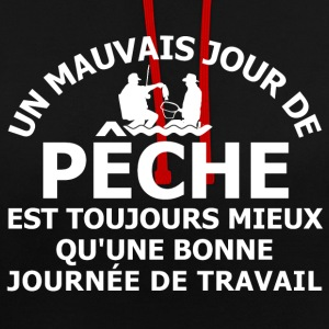 Un mauvais jour de pêche Sweat-shirts - Sweat-shirt contraste