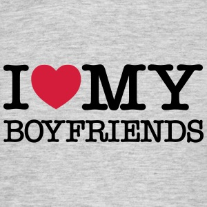 I Love My Boyfriends T-shirts - Herre-T-shirt