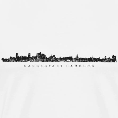 Hamburg Skyline mit Elbphilharmonie Schwarz