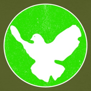 Dove of Peace - green T-Shirts - Männer Bio-T-Shirt