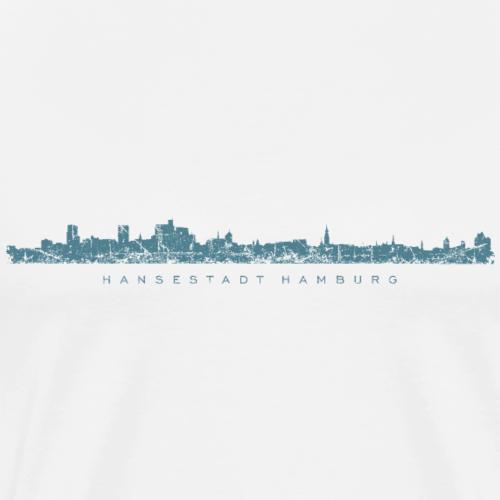 Hamburg Skyline mit Elbphilharmonie Blau
