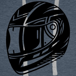 motorcycle helmet Hoodies & Sweatshirts - Men's Premium Hoodie