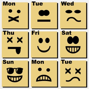 everyday emoticons Kookschorten - Keukenschort