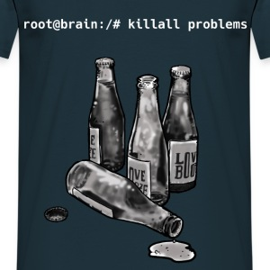 Alcool does (not) solve problems. - T-shirt Homme