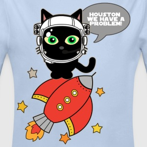 Space Cat - Houston we have a problem - Longlseeve Baby Bodysuit