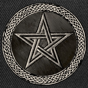 Pentacle Celtic Circle - silber Version - Snapback Cap