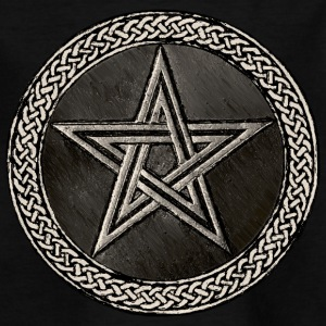 Pentacle Celtic Circle - silber Version - Teenager T-Shirt