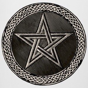 Pentacle Celtic Circle - silber Version - Bierkrug