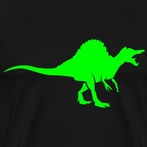 Dinosaur with comb T-Shirts - Men's Premium T-Shirt