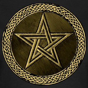 Pentacle Celtic Circle -  gold / kupfer Version - Frauen T-Shirt