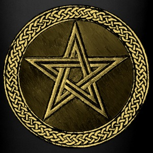 Pentacle Celtic Circle -  gold / kupfer Version - Tasse einfarbig