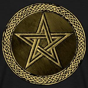 Pentacle Celtic Circle -  gold / kupfer Version - Männer T-Shirt