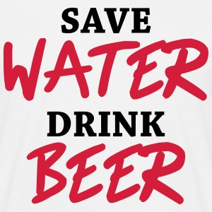 Save water, drink beer T-shirts - Herre-T-shirt