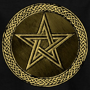 Pentacle Celtic Circle -  gold / kupfer Version - Kinder T-Shirt