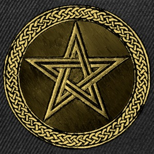 Pentacle Celtic Circle -  gold / kupfer Version - Snapback Cap