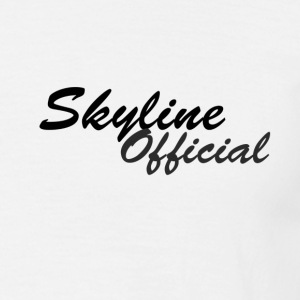 Skyline basic Tshirt with Black and Charcoal Logo - Men's T-Shirt
