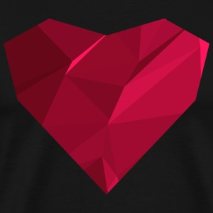 Polygon Heart T-skjorter - Premium T-skjorte for menn