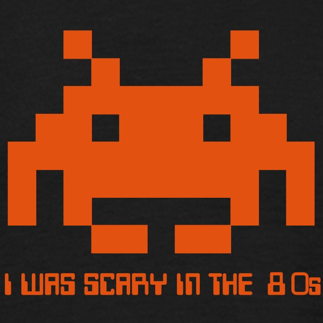 I was scary in the 80s, retro invaders T shirt