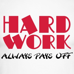 Hard work always pays off Manches longues - T-shirt baseball manches longues Homme