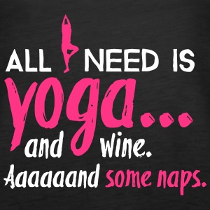 All I need is yoga Tops - Frauen Premium Tank Top