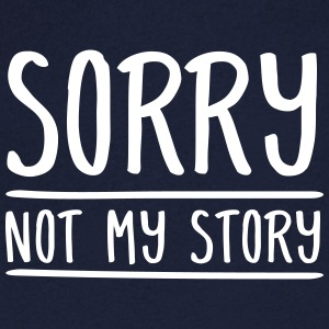 Sorry - Not My Story T-skjorter - T-skjorte med V-utsnitt for menn