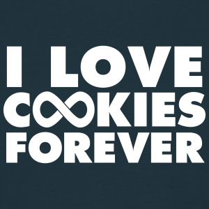 I Love Cookies Forever T-shirts - Mannen T-shirt