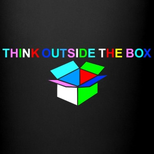 Think Outside The Box -bunt mit weiß - Tasse einfarbig