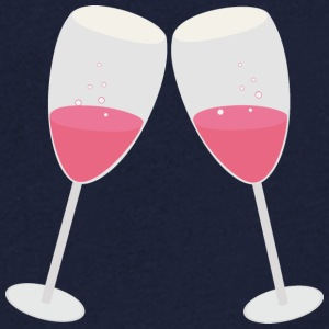Champagne glasses T-Shirts - Men's V-Neck T-Shirt