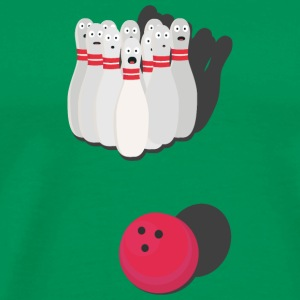 Bowling med bowlingkugle T-shirts - Herre premium T-shirt