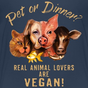 Pet or Dinner - RAHMENLOS Vegan Collection T-Shirts - Kinder Premium T-Shirt