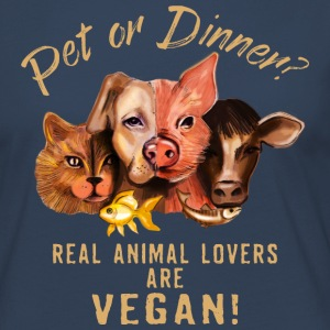 Pet or Dinner - RAHMENLOS Vegan Collection Langarmshirts - Frauen Premium Langarmshirt