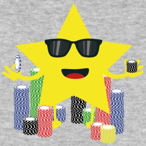 Lucky Star with poker chips T-Shirts - Men's Organic T-shirt