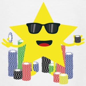 Lucky Star met poker chips Shirts - Teenager T-shirt