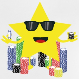 Lucky Star med pokerchips Baby T-shirts - Baby T-shirt