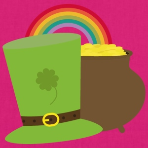 Rainbow gold and leprechaun Hat Bags & Backpacks - EarthPositive Tote Bag