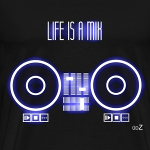 Life is a mix glow Tee shirts - T-shirt Premium Homme