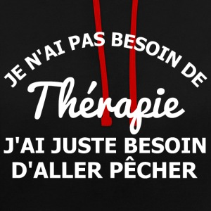 Pêcher est ma thérapie Sweat-shirts - Sweat-shirt contraste