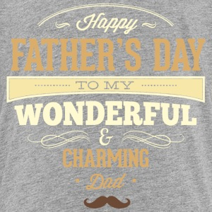 RAHMENLOS Geschenk Vatertag - Herrentag - Happy Fathers day charming dad - retro T-Shirts - Teenager Premium T-Shirt