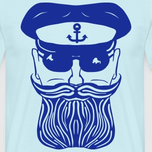 Captain Beard T-Shirts - Men's T-Shirt
