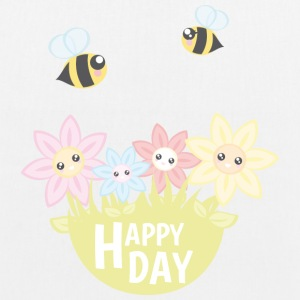 Happy Day - Bio-Stoffbeutel
