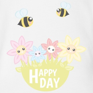Happy Day - Baby Bio-Kurzarm-Body