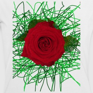 red Rose 2 - Frauen Kontrast-T-Shirt
