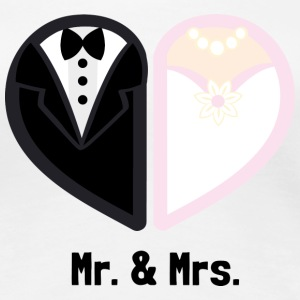 Mr. & Mrs. - Frauen Premium T-Shirt