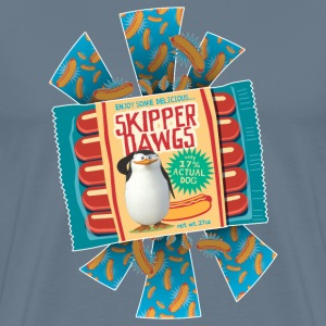 Penguins of Madagascar Skipper Dawgs Men's T-Shirt - Men's Premium T-Shirt