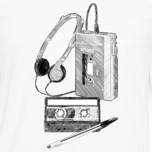 Walkman Cassette and Pen - Men's Premium Longsleeve Shirt
