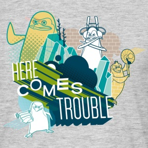 Penguins of Madagascar Here comes trouble Men's T- - Men's T-Shirt