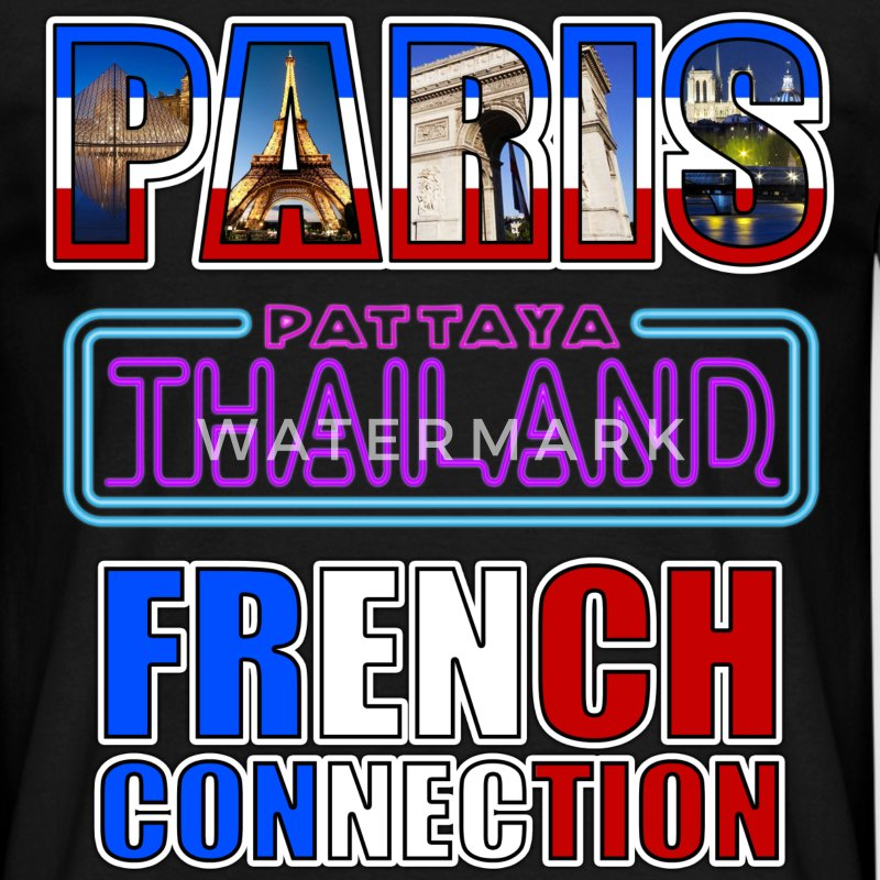 paris tahiland pattaya french connection Tee shirts - T-shirt Homme