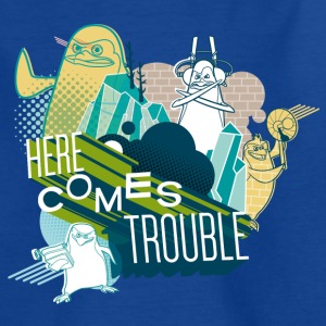 Penguins of Madagascar Here comes trouble Kid's T- - Kids' T-Shirt